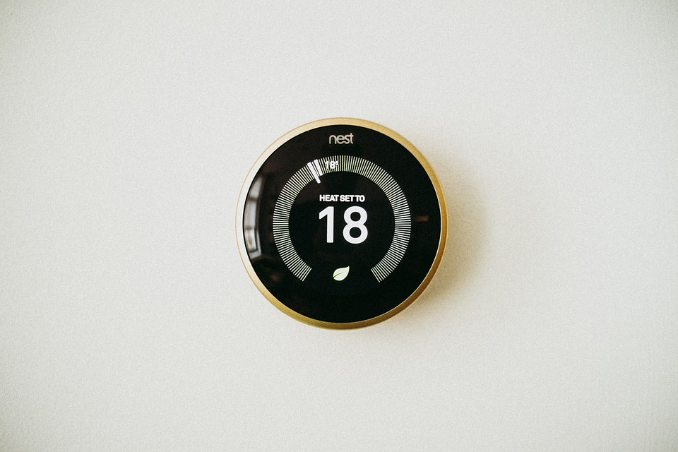 an image of a Nest smart thermostat